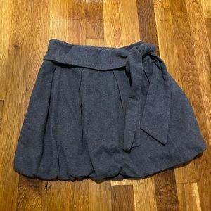 Zara Girls Gray Pleated Skirt